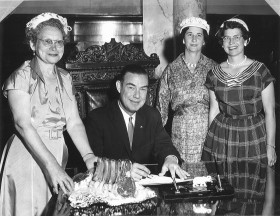 1958-Gov. Robert E. Smylie joined with the Idaho CowBelles in proclaiming that this year's Father's Day meal should be BEEF.