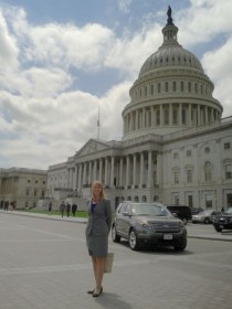 Karen, spending time in one of her favorite places, Washington D.C.