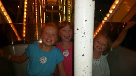 Fun on the ferris wheel!