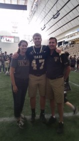 These days, Vandal games are a family affair, with son Luke playing as Fullback.