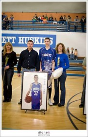The Hyde family celebrates Drew's senior night.